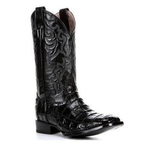 CLOSEOUT-Circle G Mens Exotic Black Caiman Western Boots  L5009