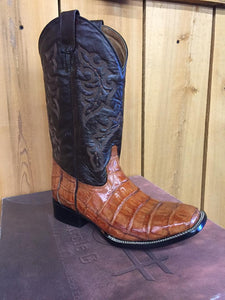 CLOSEOUT- Circle G Men's LT Chocolate Caiman Western Boots L5033