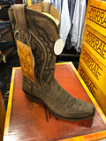 Corral Men's Distressed Brown Embroidery Narrow Square Toe Western Boots A3449