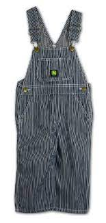 John Deere Toddler Boys Hickory Stripe Bib Overall      JD94625W