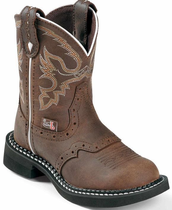 Justin Girls Gypsy Nuri Brown Western Boots  9909C