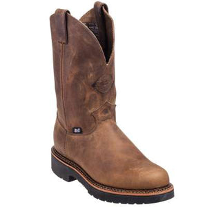 Justin Mens Blueprint Pull On Tan Gaucho Workboots  4440