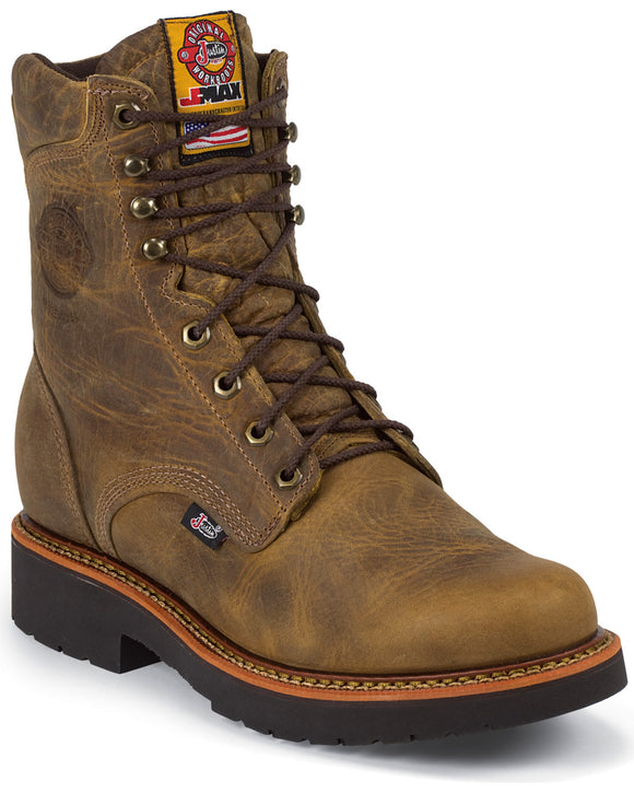 Justin Mens Bluprint Tan Gaucho lace Up Workboots  440