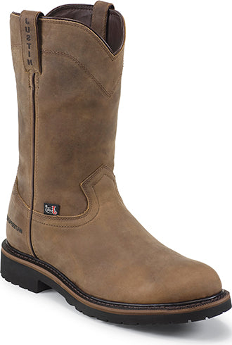 Justin Mens Drywall Pull On Waterproof Workboots  WK4960