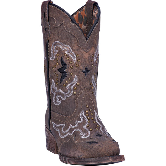 CLOSEOUT- Laredo Girls Brown Rulay Western Boots  LC2232