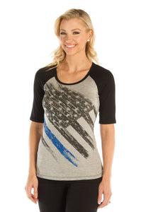 Liberty Wear Womens Blue Lives Matter Tee 7128