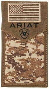 M&F Mens Western Ariat Digital Camo Rodeo Wallet      A3536444