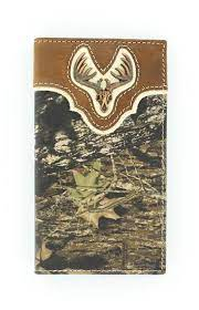 Nocona Mens Camouflage Rodeo Wallet with Deer Skull    N54318222
