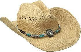 M&F Womens Raffia Hat W/Bead & Crystal       71040