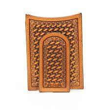 M&F Western Men's Brown Leather Basket Weave Money Clip