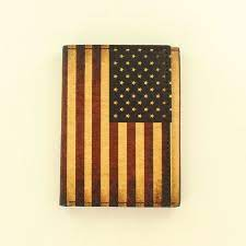 Nocona Mens Western Wallet Trifold Vintage USA Flag Red White N5416597