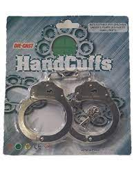 M&F Toy Kids Handcuffs with Key Child Silver      50796