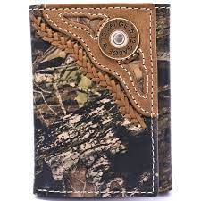 Nocona Mens Tan & Camo Shotgun Shell Tri-fold Wallet    N54444222