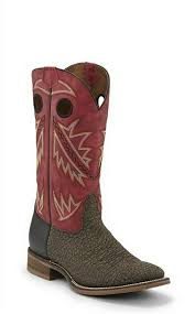 Nocona Mens Go Round Ruby Red  Western Boots    NB5544