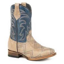 "Roper Boys Kyle Pull On 8"" Tan Western Boots     09-018-7022-1146 TA"