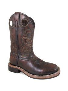 Smokey Mountain Kids Landry Sq Toe Western Boots   3722