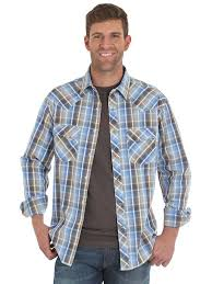 Wrangler Mens Fashion Plaid Western Shirt MVG211M