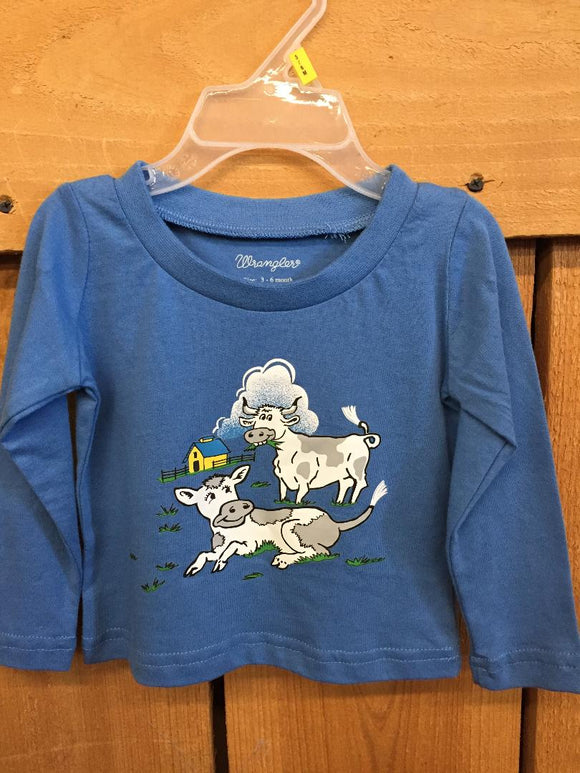 Wrangler Toddler Cow Shirt PQK184B