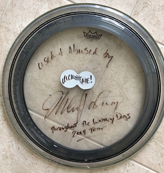 Autographed Used Bass Drum Head from The Winery Dogs 2019 Tour