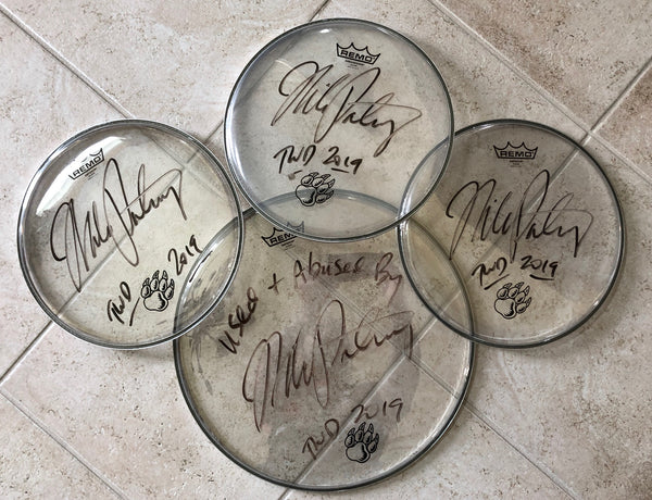 Autographed Used Drum Head from The Winery Dogs 2019 Tour