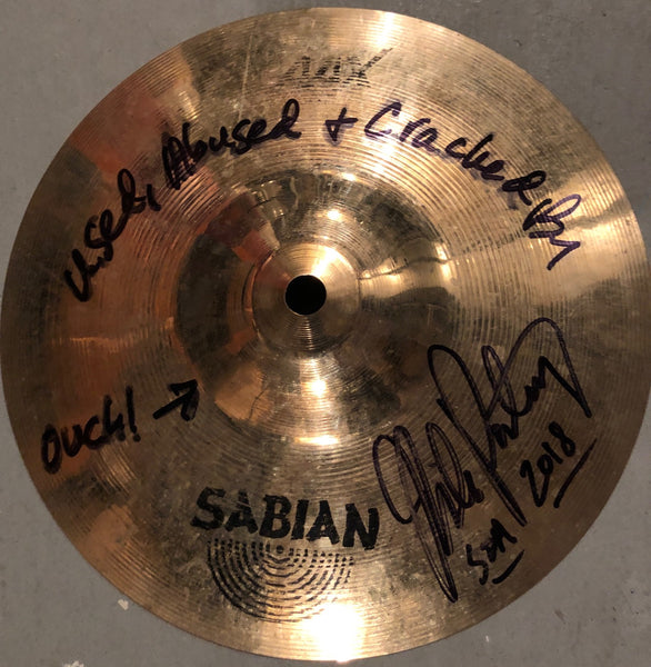 "Autographed Used MP 9"" Sabian Max Splash from SOA 2018 Tour"