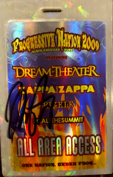 Autographed Progressive Nation 2009 All Access Tour Laminate