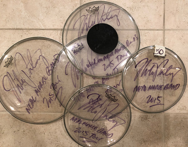 Autographed Used Drum Head from Neal Morse Band 2015 Tour