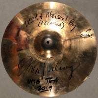 "Autographed Used MP 18"" Sabian AAX Crash from NMB 2019 Tour"