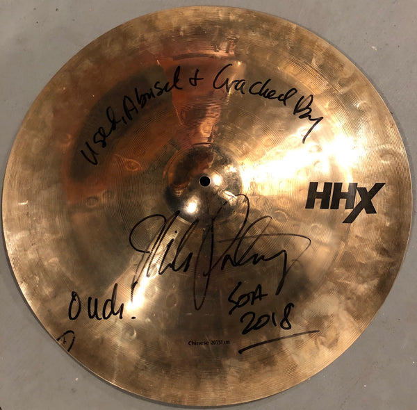 "Autographed Used MP 20"" Sabian HHX Chinese from SOA 2018 Tour"