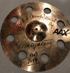 "Autographed Used MP 18"" Sabian AAX O-Zone Crash from TWD 2019 Tour"