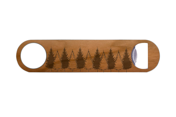 Tree Line Real Wood & Steel Bottle Opener