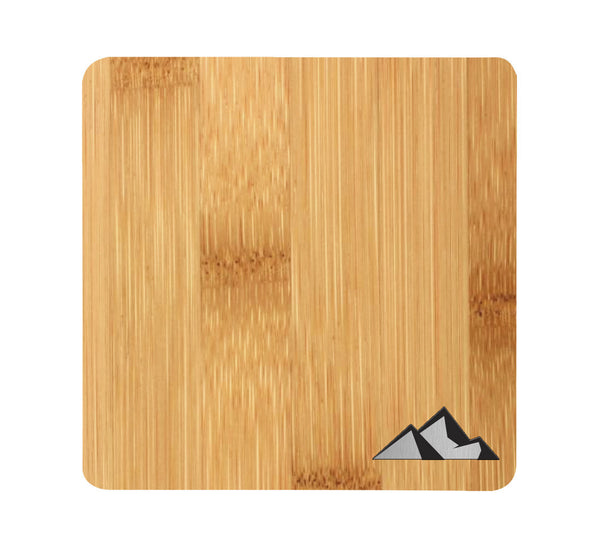 3 Peaks Wood and Metal Coaster Set of 4
