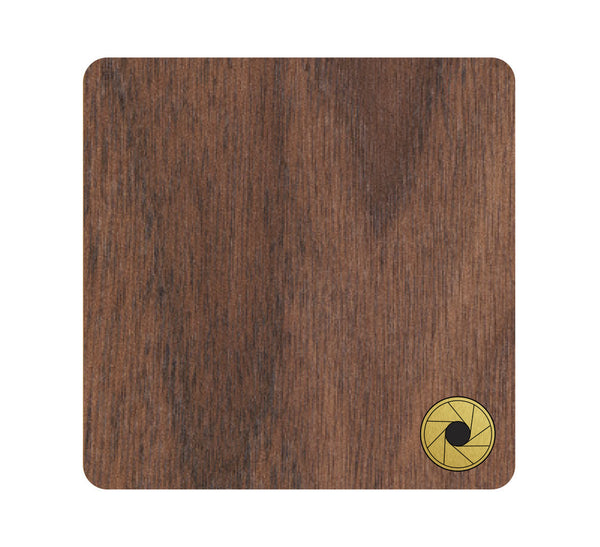 Aperture Wood and Metal Coaster Set of 4