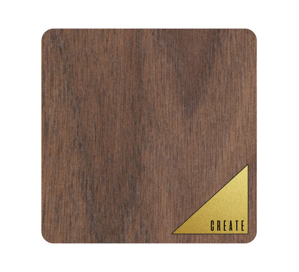 Create Wood and Metal Coaster Set of 4