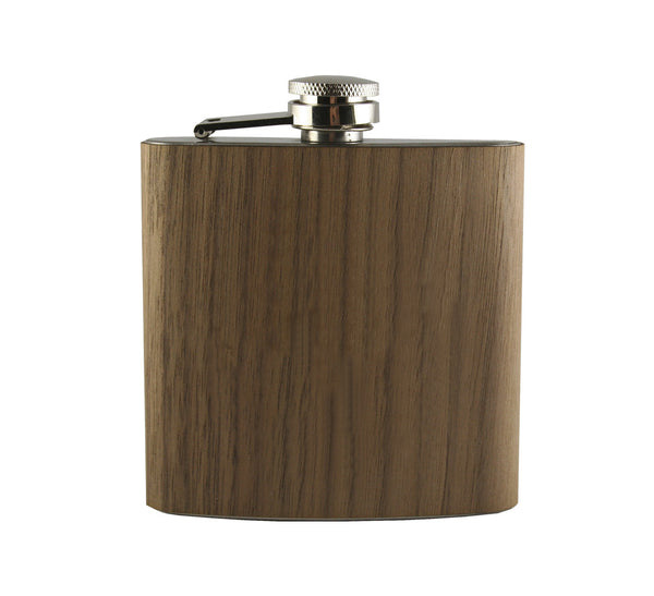 Clean Wood Wrapped Flask (Blank)