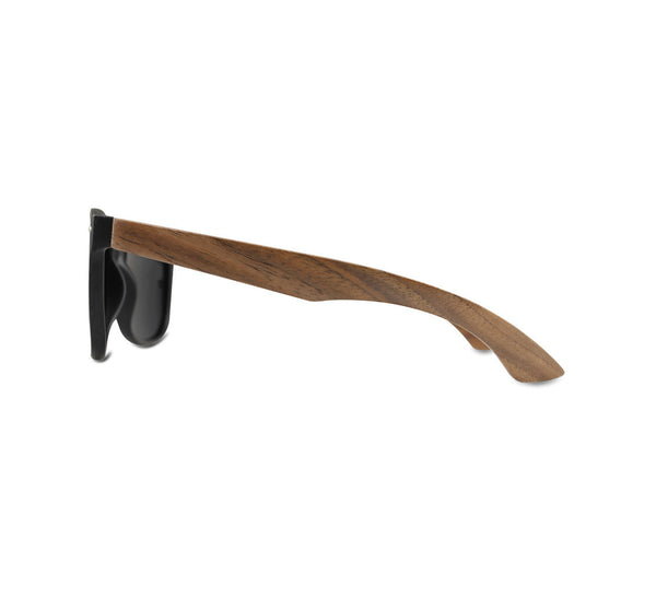 "Black and Walnut ""Tabor"" Sunglasses with Polarized Lenses"
