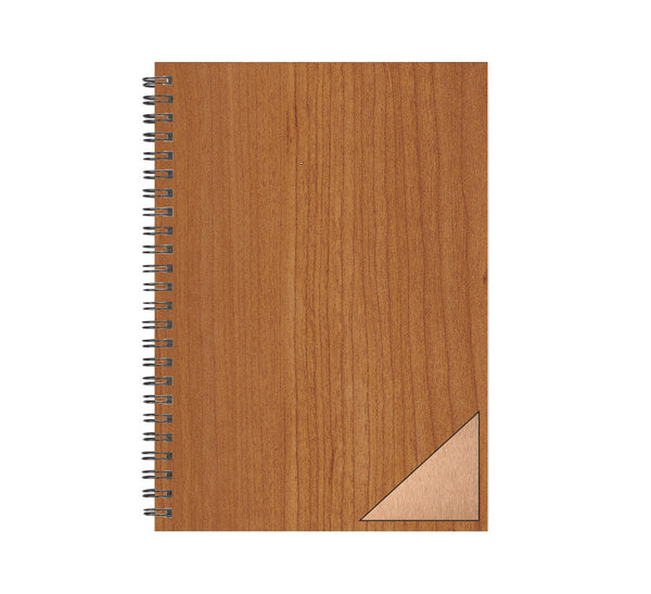 Triangle Inlay Wood and Metal Journal