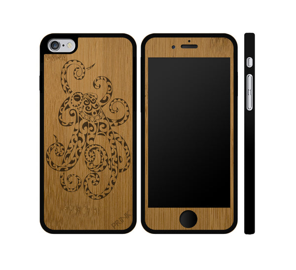 """Octopus"" - bamboo iPhone case"