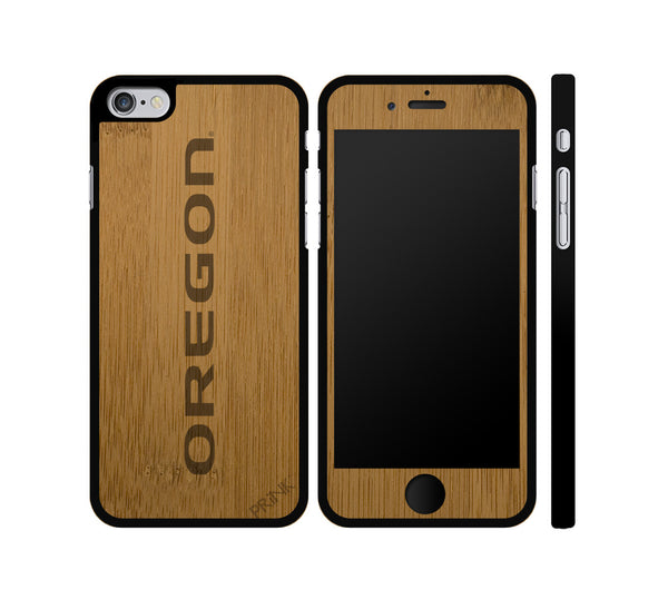 """Oregon Print"" - bamboo iPhone case"