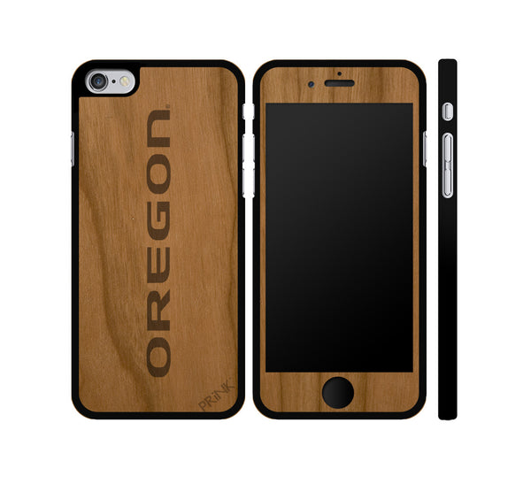"""Oregon Print"" - cherry wood iPhone case"