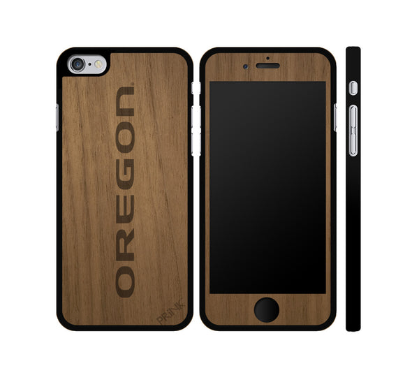 """Oregon Print"" - walnut wood iPhone case"