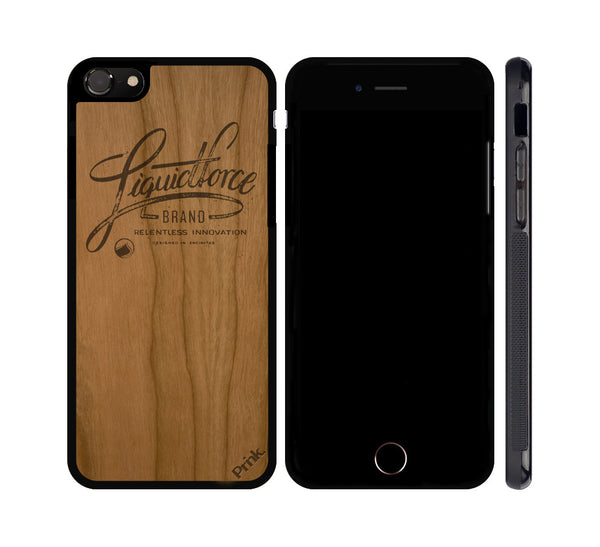 Classic Logo Wood iPhone or Galaxy Case by Liquid Force