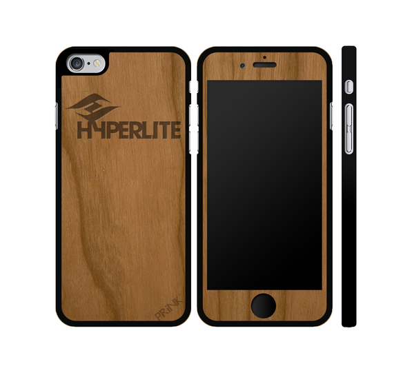 """Hyperlite Wake"" design - cherry wood iPhone case"