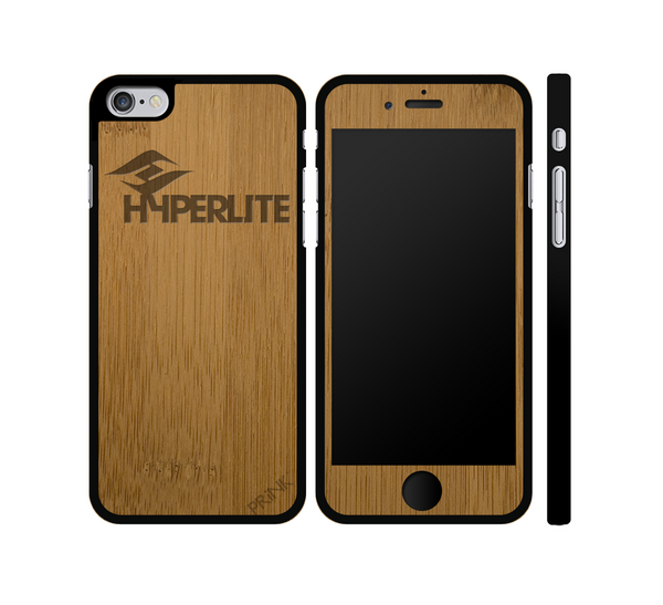 """Hyperlite Wake"" design - bamboo iPhone case"