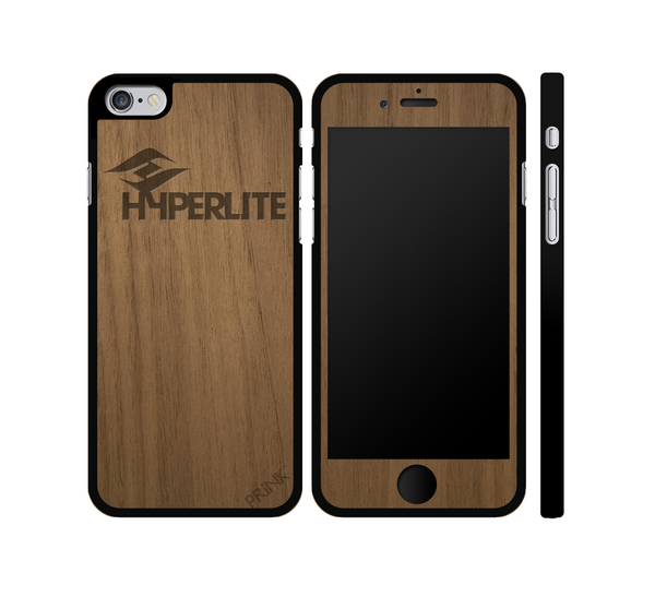 """Hyperlite Wake"" design - walnut wood iPhone case"