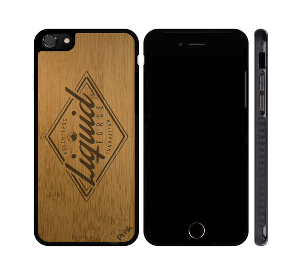 Points Logo Wood iPhone or Galaxy Case by Liquid Force