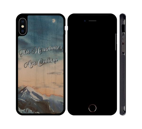 Mountains Are Calling Wood iPhone or Galaxy Case