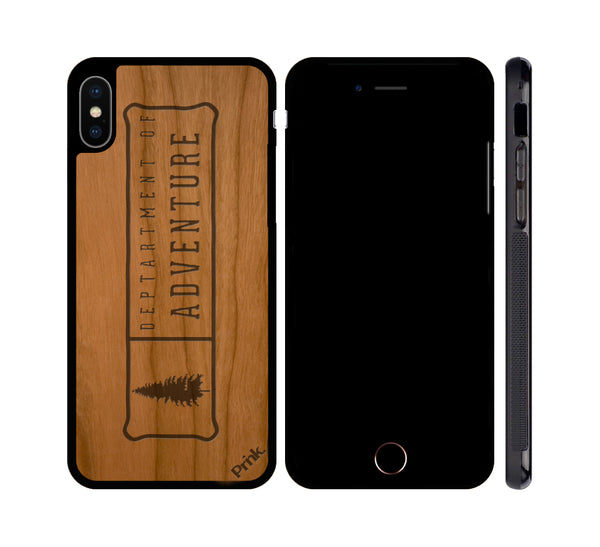 Department of Adventure Wood iPhone or Galaxy Case