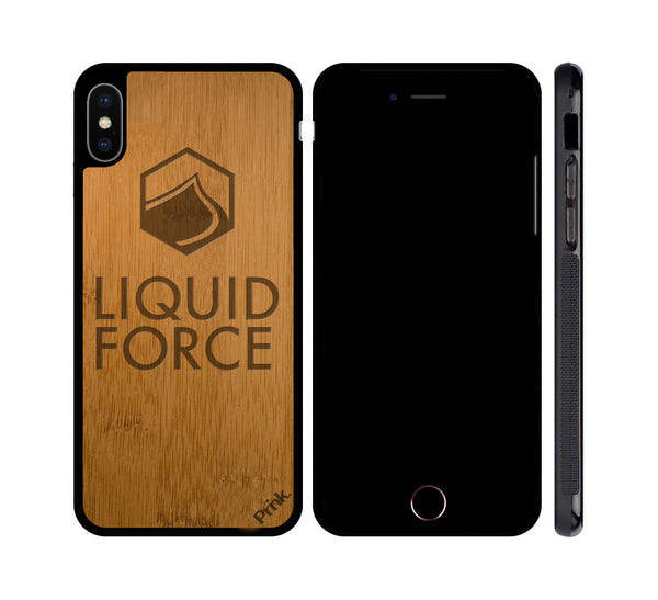 Liquid Force Hex Logo Wood iPhone or Galaxy Case