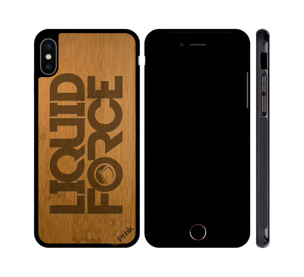 Liquid Force - Devil Stack Logo - Wood iPhone or Galaxy Case